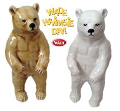 As most Wade collectors will be aware, Saturday July 19th is the 2nd International Wade Whimsie Day – a celebration of the day in 1891 when Sir George Wade was born in Burslem, Stoke-on-Trent.  Our second International Wade Whimsie Day Special is a White Standing Bear. We will produce this as a time limited edition. You can pre-order this piece until 9am on August 1st 2014. We will then produce the piece to the number of orders received and the edition size will be announced/