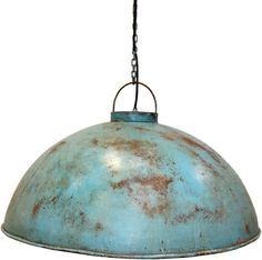 Köp - 1195kr! Torneträsk taklampa - Industriell blå. Taklampa i vintage med stor skärm i blå metall med