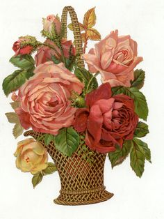 Vintage DieCut Roses | Flickr - Photo Sharing!