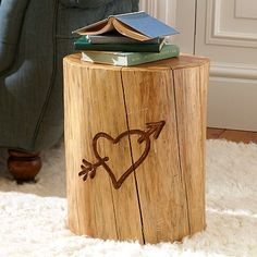 The Emily + Meritt Tree Trunk Side Table @PBteen