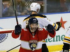 Jaromir Jagr broke a tie with Mark Messier for No. 2 on the NHL career points list. Afterward, he was upset about the two standings points the Florida Panthers let slip away with a loss to Boston. ''You want to win the hockey game,'' Jagr said. Florida Panthers, Hockey Games, Nhl, Two By Two, Captain Hat, Hats, Fashion, Moda, Hat