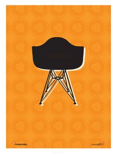 """""""Eames Chair"""" Poster for Mid-Century Festival in pal Springs"""