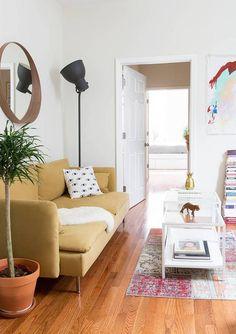 an IKEA filled living room
