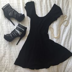 HP 9/6Cross cross back LBD Cross cross open back little black dress from wet seal never worn. HP 9/6 classic and cool party Wet Seal Dresses