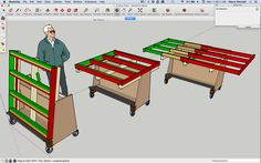 Wow! cool concept for plywood cutting table-