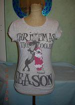 Zabawny T-shirt ze świątecznym printem M