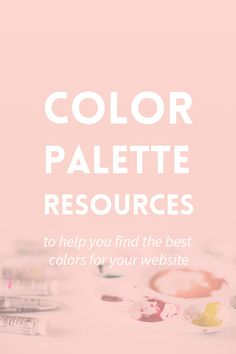 Creating a color palette is one of the most important steps in branding. Use these color palette resources to find the best colors for your website. Learn Web Design, Web Design Tips, Graphic Design Tutorials, Blog Design, Graphic Design Inspiration, Design Ideas, Best Color For Website, Corporate Design, Design Logo