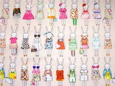 1976 - Fifi Lapin Bunny Rabbit Waterproof Fabric - 58 Inch (Width) x Yard (Length). via Etsy. Art And Illustration, Illustrations, Rabbit Run, Bunny Rabbit, Fabric Patterns, Print Patterns, Fabric Design, Pattern Design, Lapin Art