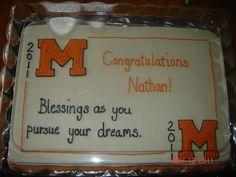 Graduation Cake  Orange and Black