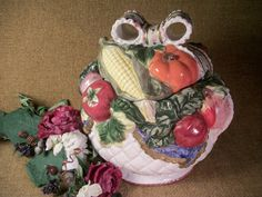 Ceramic Soup Tureen Cookie Jar Serving and Storage Handpainted Colorful Garden…