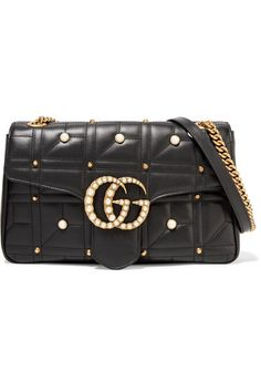 GUCCI GG Marmont 2.0 medium embellished quilted leather shoulder bag.   gucci  bags   14455c09303da