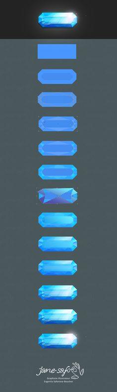 Туториал как нарисовать кристалл драгоценный камень по шагам