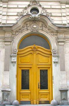 Yellow door in Vienna