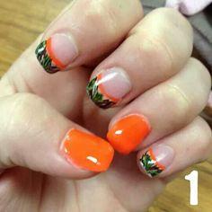 Cutie camo nails