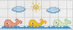 patrones de punto de cruz para sabanas de bebe - Buscar con Google