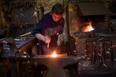 Artisan blacksmith in the Chalk Pit Forge Copyright Els Standaert 2013