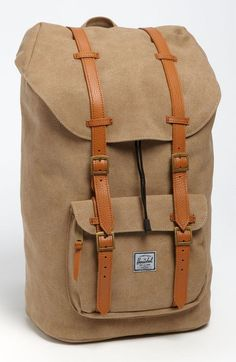vintage canvas back pack
