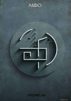 Las ilustraciones ARCHIPLAN de Federico Babina analizan las plantas de célebres arquitectos,© Federico Babina