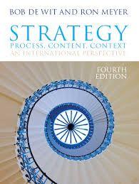 Strategy  : process, content, context : an international perspective / Wit, Bob de