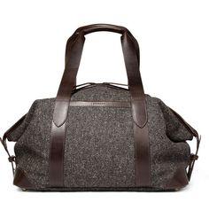 cherchbi tweed wool holdall bag