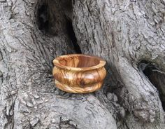 Olive Wood Wine Bottle Coaster, Stand, Hand Crafted From Greek Olive Wood