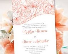 Image result for beach theme wedding invitation