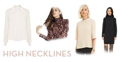 Whether retro or Victorian, turtlenecks can act as basic layering pieces or a statement all on their own. Ponchos like these from Ann Taylor and Club Monaco are an updated way to deliver that high-necked look with easy style. Plus, high-necked blouses, like these from Karen Millen and BCBGeneration, are appropriate from day to night. Fall fashion | fall trends | Style | Fall blouses | Fall 2015