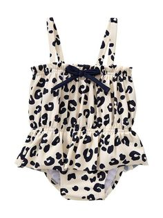 gap baby printed navy leopard one piece girls bathing suit.. This would be cute for a baby girl