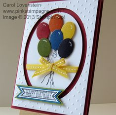 Sketched Birthday Colorful Balloon Bunch.  I used the magnetic platform to cut both ovals at one time.