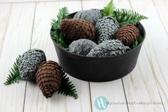 Pinecones are perfect for fall, but what if you don't have any available? No worries, we are sharing a tutorial to make your own DIY Felt Pinecones! Seasonal Decor, Holiday Decor, Autumn 2017, Pinecone, Felt Diy, Hobbies, Husband, Cabin, Crafty
