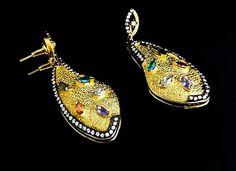 Orlov Jewellery-unic creation Brooch, Drop Earrings, Jewellery, Fashion, Moda, Jewelery, Jewelry Shop, Brooches, Drop Earring