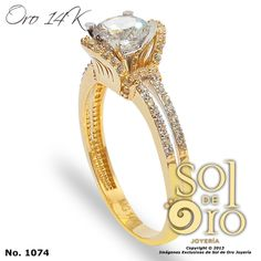 Anillo de compromiso oro 14k RD$8,800