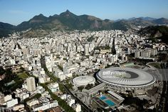 Aerial view of the Maracana Complex, a Rio 2016 Olympic Games venue, is shown with nearly one year to go until the Rio 2016 Olympic Games on July 21, 2015 in Rio de Janeiro, Brazil.