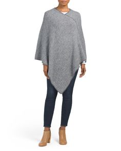 Made In Italy Melange Poncho Tj Maxx, Brand Names, Sweaters For Women, Pullover, Stylish, How To Make, Fashion Design, Shopping, Clothes