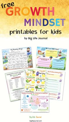 The Ultimate List of Free Growth Mindset Printables for Kids and Adults - Life Shirts - Ideas of Life Shirts - Free Growth Mindset Printables for Kids from Big Life Journal Growth Mindset For Kids, Growth Mindset Classroom, Growth Mindset Activities, Growth Mindset Posters, Growth Mindset Display, Growth Mindset Lessons, Social Emotional Learning, Social Skills, Kids And Parenting