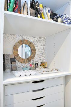 IKEA PAX | IKEA Hack | Custom Closet | Master Closet | Walk In Closet | Closet Ideas | Closet Goals | IKEA Closet | Closet Organization | His and Hers Closet | Large Closet | Built In Closet | Budget Closet Ideas | Hale Navy | Benjamin Moore | Wallpaper #IKEA #ikeahack #closet