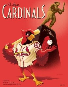 new artwork for the official 2013 Cardinals Scorecard? Big thanks to local artist Mike Right for the design. The scorecard will be available for purchase at Busch Stadium beginning on Opening Day. St Louis Baseball, St Louis Cardinals Baseball, Stl Cardinals, Cardinals News, Baseball Wall, Baseball Teams, Baseball Signs, Dodgers Baseball, Baseball Stuff