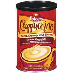 Folgers Cappuccino Mocha Chocolate Coffee Beverage Mix Canisters Pack of 3 *** See this great product. (This is an affiliate link) French Vanilla Cappuccino, Cappuccino Coffee, Coffee Mix, Coffee Drinks, Folgers Coffee, Coffee Substitute, Mocha Chocolate, Coffee Recipes, Gourmet