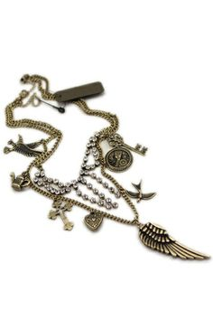 Double-deck Charm Necklace