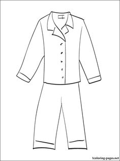 Pajama Coloring Page Coloring Pages for Kids and for