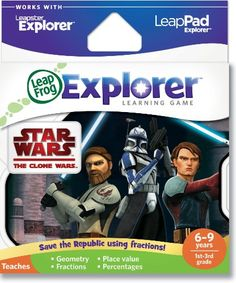 LeapFrog Explorer Learning Game: Star Wars: The Clone Wars (works with LeapPad & Leapster Explorer) $24.99