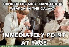 Tee hee...Star Wars humor...