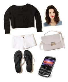 """black and white"" by walkerhailey51 ❤ liked on Polyvore featuring Hollister Co."