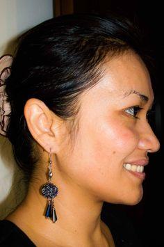 Handmade  Crochet Beaded Ball Pendant  Dangle Earrings Tibetan Beaded Drops  Earring by UnikacreazioniShop on Etsy