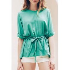 Stylish V-Neck Short Sleeve Self-Tie T-Shirt For Women from $16.80 by NASTYDRESS
