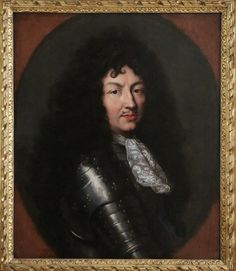 Portrait Of Louis XIV In Armor, 17th C, Attributed To Claude Lefebvre (1632-1675) Louis Xiv Versailles, Ludwig Xiv, Roi Louis, Astronomy Science, Baroque Art, Old Frames, King Charles, 18th Century, Netherlands