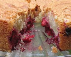 Excellent recipe, I make this every year since I discovered sour cherries: Fresh Sour Cherries Cherry Almond Cake | Amanda's Cookin'