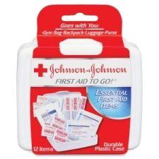 "Mini First Aid Kit, Portable,12 Pieces, 4-1/4""x4""x1"""