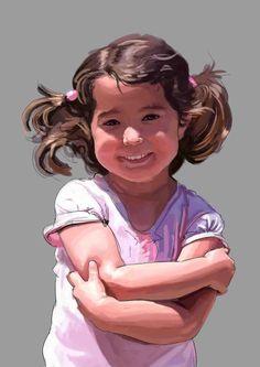 Annabel (portrait pocess) by Luis Pastor, via Behance