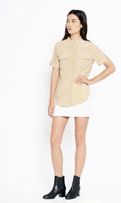 The Short Sleeve Slim Signature in Khaki